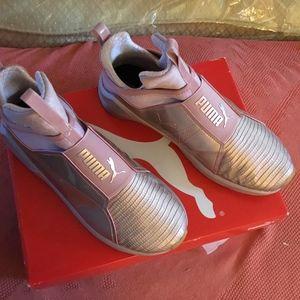 Metallic Puma Sneakers/Rose Gold. Woman's 8.5